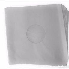 Música de colección: 50 FUNDAS INTERIORES ANTIESTÁTICAS ORIGINALES DE PAPEL BLANCO PARA DISCOS DE VINILO LP Y 12 MAXI. Lote 104362803