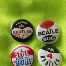 Música de colección: LOTE DE 4 CHAPAS THE BEATLES . Lote 104442967