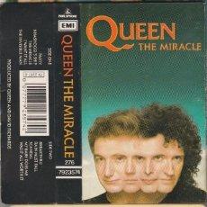 Música de colección: QUEEN-MIRACLE- CASSETTE TAPE. Lote 104794371