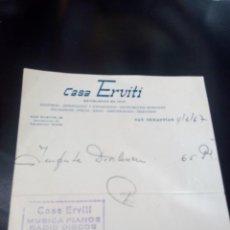 Música de colección: CASA ERVITI SAN SEBASTIAN 4/2/67. Lote 107348535