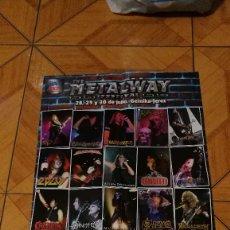 Música de colección: PÓSTER THE METALWAY FESTIVAL (HEAVY ROCK) NUEVO. Lote 107944791