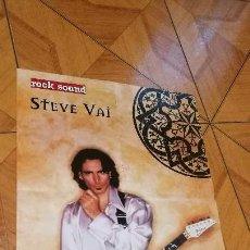 Música de colección: PÓSTER STEVE VAI / SODOM (ROCK SOUND) NUEVO. Lote 108677795