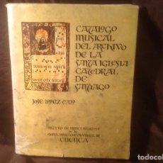 Música de colección: EX LIBRIS CATÁLOGO MUSICAL DEL ARCHIVO DE LA SANTA IGLESIA CATEDRAL DE SANTIAGO 1972. Lote 108923983