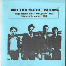 Musique de collection: MOD SOUNDS NÚMERO 8 - FANZINE DE MÚSICA MOD. ORIGINAL DE MARZO DE 1999. Lote 120402138