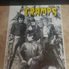 Música de colección: POSTER ORIGINAL THE CRAMPS - TOUR 1981. Lote 110421175