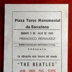 Música de colección: THE BEATLES, CONCIERTO EN BARCELONA 3 DE JULIO DE 1965.,EL ENVIO ESTA INCLUIDO.. Lote 118616351
