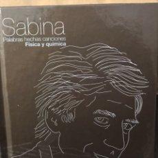 Música de colección: SABINA - PALABRAS HECHAS CANCIONES - FÍSICA Y QUÍMICA - LIBRO + CD MÚSICA. Lote 112575823