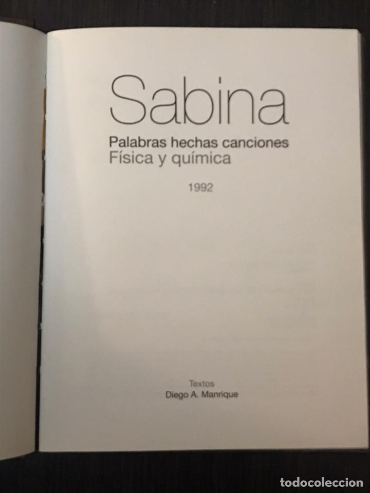 Música de colección: Sabina - Palabras hechas canciones - física y química - Libro + CD Música - Foto 2 - 112575823