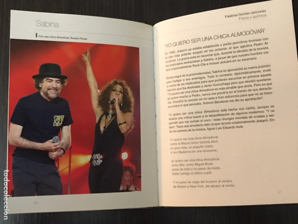 Música de colección: Sabina - Palabras hechas canciones - física y química - Libro + CD Música - Foto 3 - 112575823