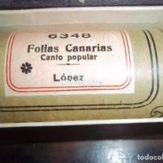 Música de colección: ROLLO PIANOLA. FOLIA CANARIA.ROLLOS VICTORIA.FOLIAS.FOLKLORE CANARIO.CANARIAS.MUY DIFICIL. Lote 112741567
