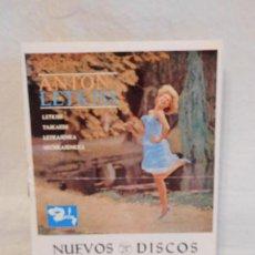Música de colección: M69 NUEVOS DISCOS COLUMBIA. ENERO 1965. ANTON LETKISS. . Lote 112753731