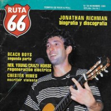Música de colección: RUTA 66 (REVISTA DE MÚSICA), NÚMERO 56. ORIGINAL DE NOVIEMBRE DE 1990. Lote 113227627