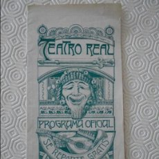 Música de colección: TEATRO REAL. PROGRAMA OFICIAL. AÑO 1914. Nº 73. 20 GRAMOS.. Lote 113315087