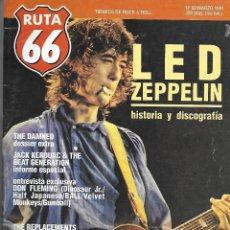 Música de colección: RUTA 66 (REVISTA DE MÚSICA), NÚMERO 60. ORIGINAL DE MARZO DE 1991. Lote 113317099