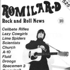 Musique de collection: ROMILAR-D, ROCK AND ROLL NEWS (FANZINE DE ROCK), NÚMERO 10. ORIGINAL DE DICIEMBRE DE 1988. Lote 159461820