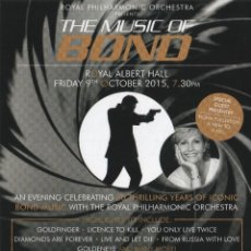 Música de colección: FLYER -THE MUSIC OF BOND/THE GOLDEN AGE OF HOLLYWOOD-ROYAL PHILHARMONIC ORCHESTRA -ROYAL ALBERT HALL. Lote 113621507