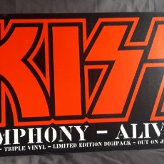 Música de colección: KISS - CARTEL PROMOCIONAL SYMPHONY-ALIVE IV. Lote 130661495