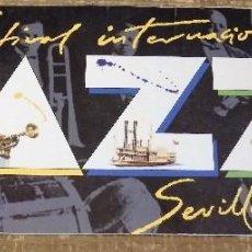 Música de colección: SEVILLA, 1986, PROGRAMA 7º FESTIVAL INTERNACIONAL DE JAZZ, 12 PAGINAS. Lote 114428807