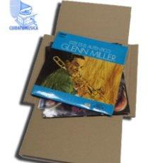 Música de coleção: 100 CAJAS DE CARTON CRUZ ENVIO Y EMBALAJE PARA ENVIAR DE 1 A 3 DISCOS VINILO LP. Lote 269775003