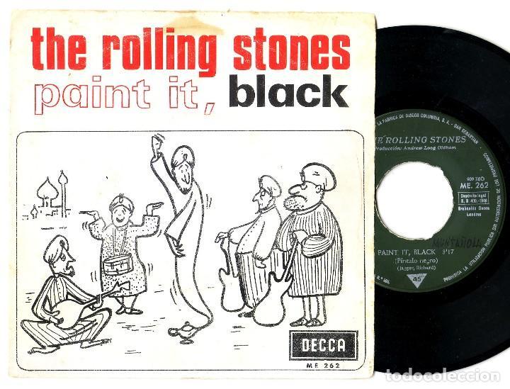 LOS ROLLING STONES: RARO SINGLE ESPAÑOL DE 1966-SELLO PROMOCIONAL DETRAS- MUY BIEN-RARO BEATLES (Música - Varios)