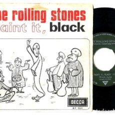 Música de colección: LOS ROLLING STONES: RARO SINGLE ESPAÑOL DE 1966-SELLO PROMOCIONAL DETRAS- MUY BIEN-RARO BEATLES. Lote 115706887