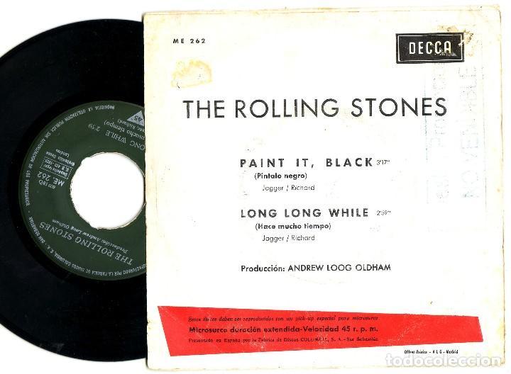 Música de colección: LOS ROLLING STONES: RARO SINGLE ESPAÑOL DE 1966-SELLO PROMOCIONAL DETRAS- MUY BIEN-RARO BEATLES - Foto 2 - 115706887