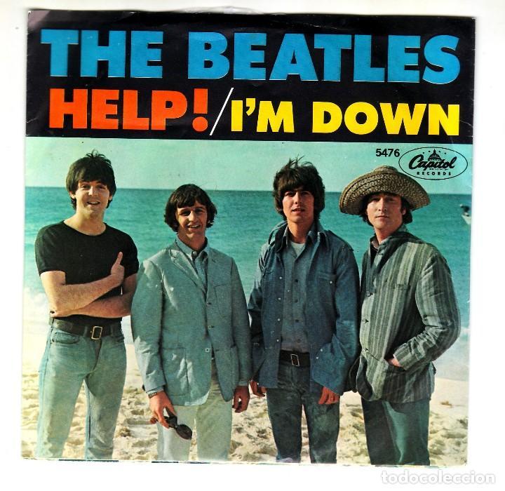 THE BEATLES: HELP- I'M DOWN U.S.A ORIGINAL 1965 -PORTADA PAPEL EX!! (Música - Varios)