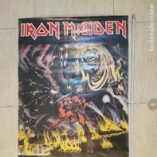 Música de colección: GRAN POSTER IRON MAIDEN 93*62 PROMO DISCO THE NUMBER OF THE BEAST PACE MINERVA POSTERS 1982 . Lote 116790699