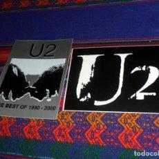 Música de colección: 2 ADHESIVO PEGATINA U2 U 2 THE BEST OF 1990-2000. 10X8 CMS. MUY BUEN ESTADO Y RARAS.. Lote 270913228