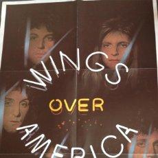 Música de colección: PÓSTER WINGS MACCARTNEY BEATLES WINGS OVER AMERICA ORIGINAL. Lote 117903567