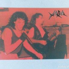 Música de colección: POSTAL COLECCIÓN HARD ROCK ESPAÑOL 001 - XADA - SPANISH HEAVY METAL POSTCARD. Lote 118420895