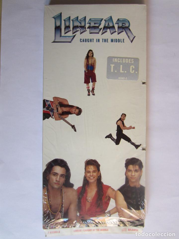 LINEAR - CAJA LARGA VACIA DE CARTON (SIN CD) (EMPTY LONG BOX) (NO CD) CAUGHT IN THE MIDDLE 1992 USA (Música - Varios)
