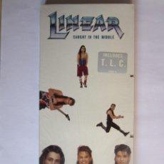 Música de colección: LINEAR - CAJA LARGA VACIA DE CARTON (SIN CD) (EMPTY LONG BOX) (NO CD) CAUGHT IN THE MIDDLE 1992 USA. Lote 118987795