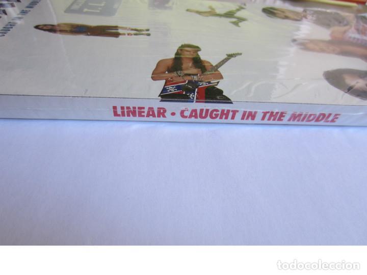 Música de colección: LINEAR - CAJA LARGA VACIA DE CARTON (SIN CD) (EMPTY LONG BOX) (NO CD) CAUGHT IN THE MIDDLE 1992 USA - Foto 4 - 118987795
