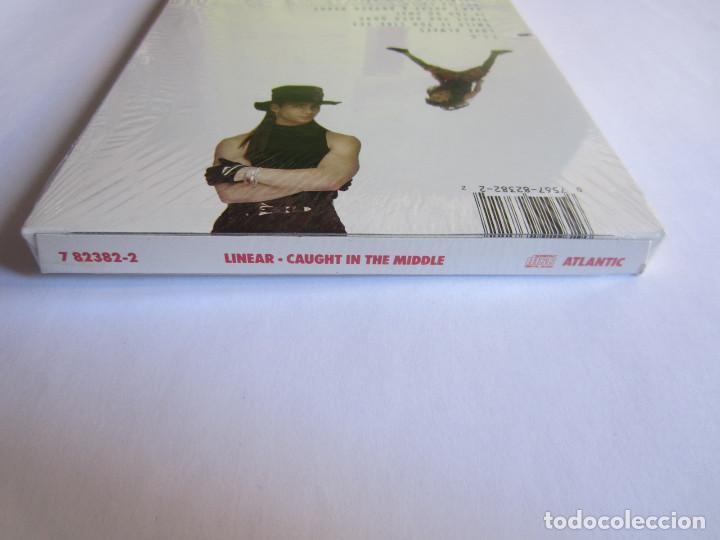 Música de colección: LINEAR - CAJA LARGA VACIA DE CARTON (SIN CD) (EMPTY LONG BOX) (NO CD) CAUGHT IN THE MIDDLE 1992 USA - Foto 5 - 118987795