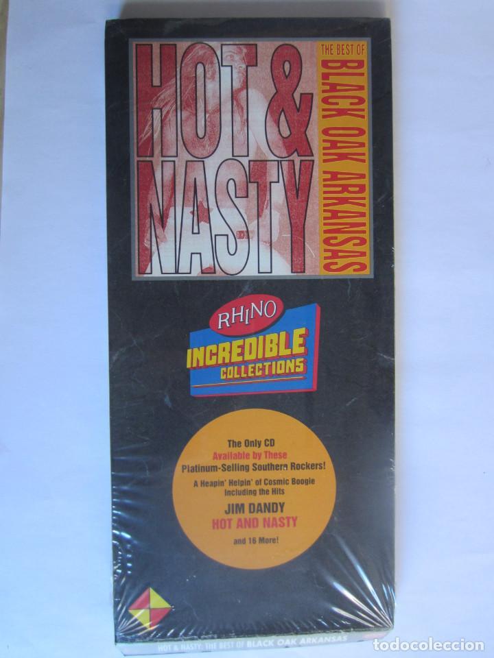 BLACK OAK ARKANSAS - CAJA LARGA VACIA (SIN CD) (EMPTY LONG BOX) HOT & NASTY: THE BEST OF 1987 USA (Música - Varios)