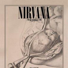 Música de colección: NIRVANA - PALACIO DE LOS DEPORTES, MADRID, SPAIN 9 FEB. 1994 !! CARTEL CONCIERTO 30X40 !!. Lote 156614005