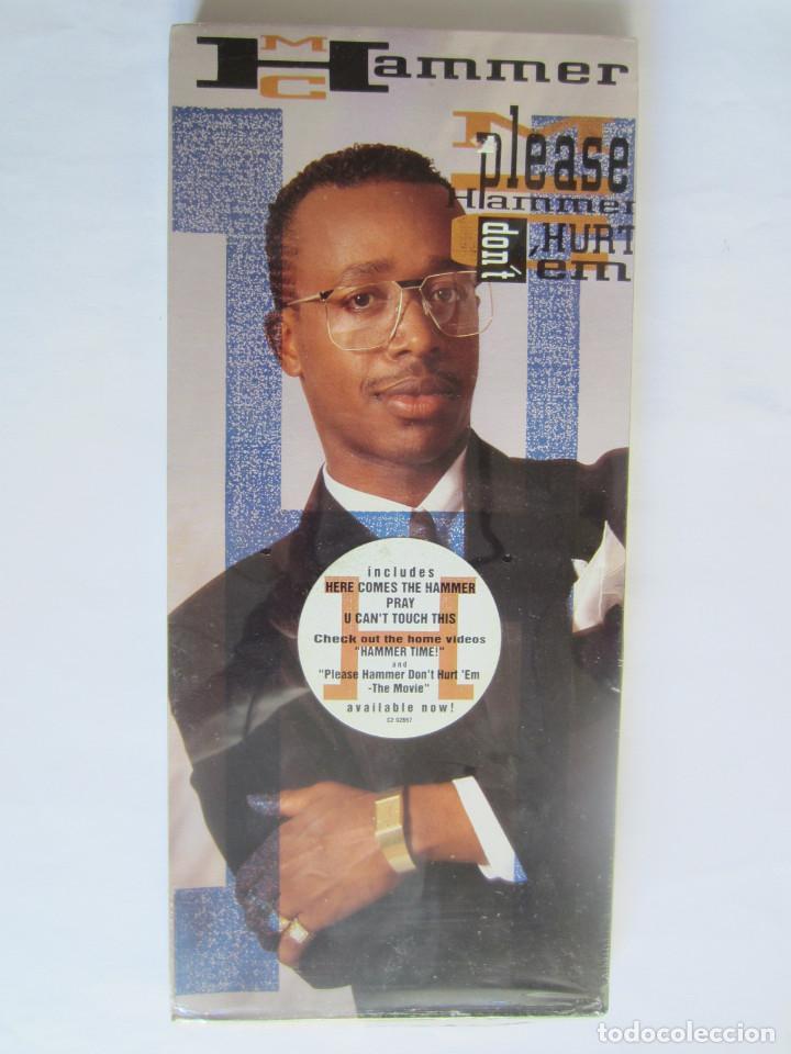 M.C. HAMMER - CAJA LARGA VACIA CARTON (SIN CD) (EMPTY LONG BOX) PLEASE HAMMER DON'T HURT EM 1990 USA (Música - Varios)