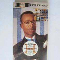Música de colección: M.C. HAMMER - CAJA LARGA VACIA CARTON (SIN CD) (EMPTY LONG BOX) PLEASE HAMMER DON'T HURT EM 1990 USA. Lote 119167759