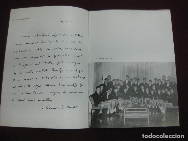 Música de colección: PROGRAMA CONCERT - HOMENATGE A PAU CASALS. ESCOLANIA DE MONTSERRAT. TEATRE TIVOLI DEL VENDRELL. 1974 - Foto 3 - 119968088