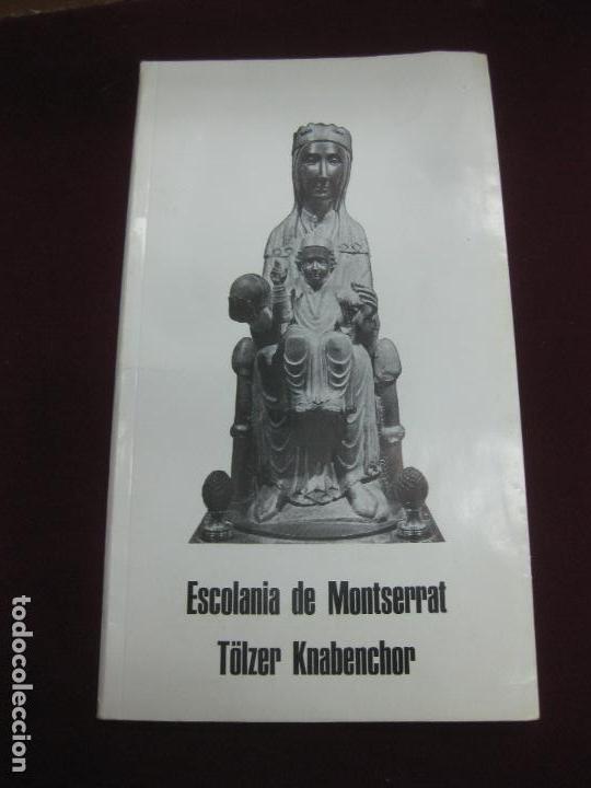 PROGRAMA CONCIERTOS ESCOLANIA DE MONTSERRAT EN BELGICA. (Música - Varios)