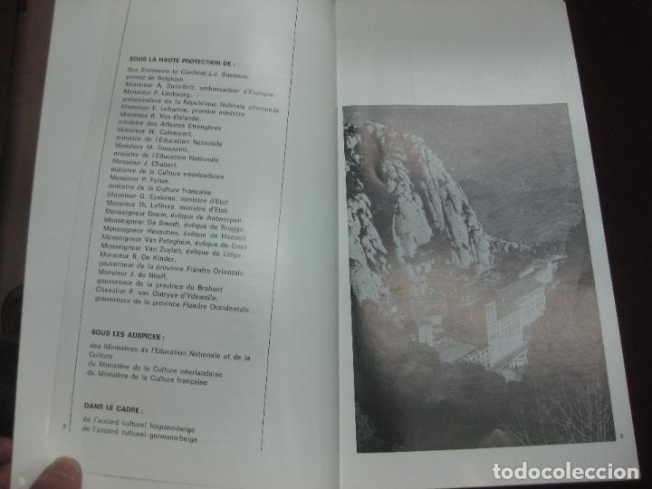 Música de colección: PROGRAMA CONCIERTOS ESCOLANIA DE MONTSERRAT EN BELGICA. - Foto 3 - 119960991
