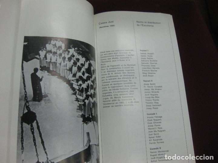 Música de colección: PROGRAMA CONCIERTOS ESCOLANIA DE MONTSERRAT EN BELGICA. - Foto 4 - 119960991