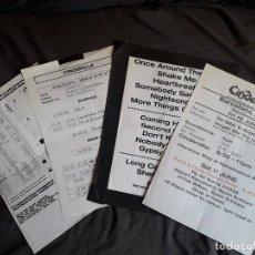 Música de colección: CINDERELLA - LOTE DE 4 HOJAS BACKSTAGE DE SU CONCIERTO EN BARCELONA EN EL 2011 - HARD ROCK. Lote 121261447