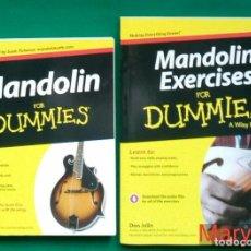 Música de colección: MANDOLIN FOR DUMMIES -WILEY BRAND- APRENDER A TOCAR LA MANDOLINA SIN PROFESOR. DOS LIBROS EN INGLÉS.. Lote 121441379