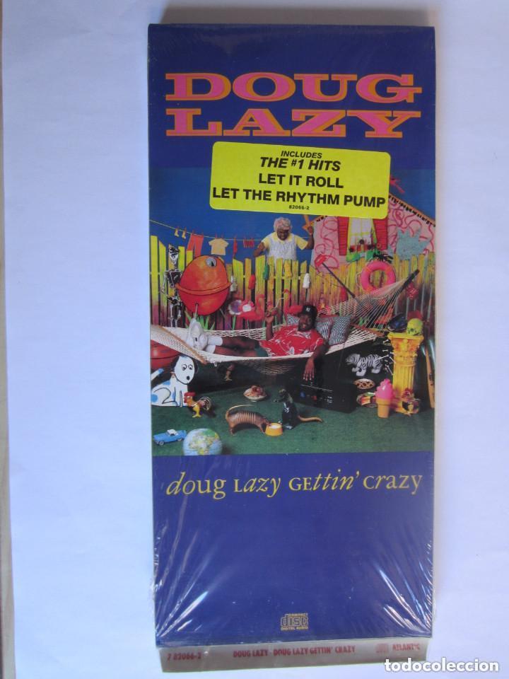 DOUG LAZY - CAJA LARGA VACIA DE CARTON (SIN CD) LONG CARTON EMPTY BOX (NO CD) GETTIN' CRAZY 1990 USA (Música - Varios)
