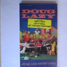 Música de colección: DOUG LAZY - CAJA LARGA VACIA DE CARTON (SIN CD) LONG CARTON EMPTY BOX (NO CD) GETTIN' CRAZY 1990 USA. Lote 121593239