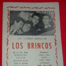 Música de colección: LOS BRINCOS, CANCIONERO DE TIRADA LIMITADA DE 1965, MUY DIFICIL - IMPECABLE. Lote 124155559
