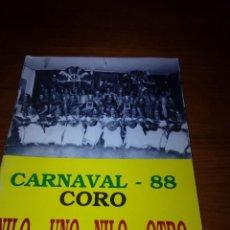 Música de colección: LIBRETO CARNAVAL 88 CORO. NILO... UNO NILO... OTRO. ET24B2. Lote 124438391