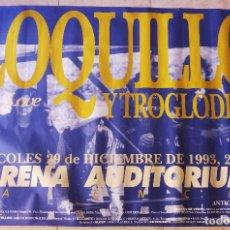 Música de colección: POSTER GRANDE LOQUILLO Y TROGLODITAS + DR. LOVE CONCIERTO ARENA AUDITORIUM, VALENCIA. AÑO 1993. Lote 124628051
